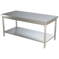 Table de travail centrale inox 600x700