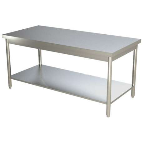 Table de travail centrale inox 800 x 700