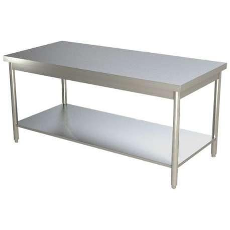 Table de travail centrale inox 1400 x 700