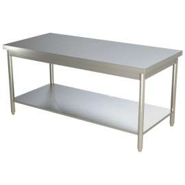 Table de travail centrale inox 1600x700