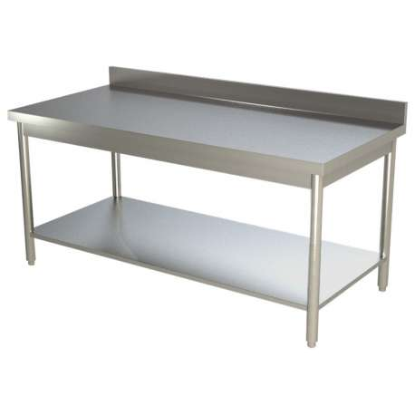 Table Inox Adossee Pour Cuisine Professionnelle 1600 X 700