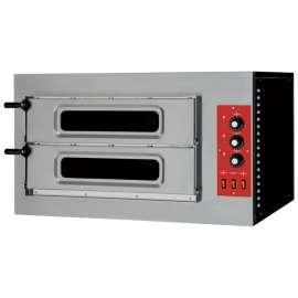Four 2x2 pizzas porte vitrée électrique 400V