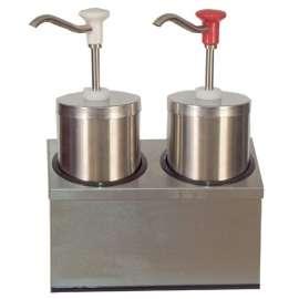 Double distributeur de sauces avec poussoir