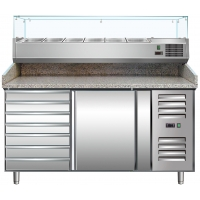 Meuble à pizza MARGA PZ1610 + saladette VRX 1500