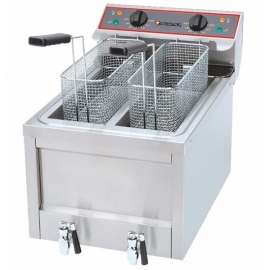 Friteuse électrique professionnelle 2 x 8 litres
