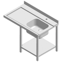 Table d'entrée gauche 1 bac