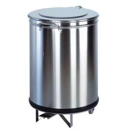 Poubelle ronde à pédale 100 litres