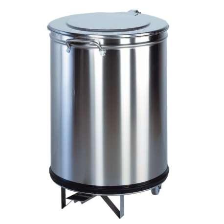 Poubelle ronde à pédale 110 litres