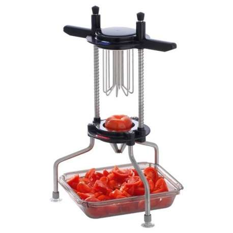 Coupe-tomates et agrumes 4 sections en inox Tellier