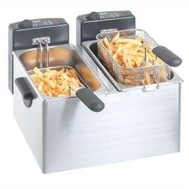 Friteuse électrique Bartscher 2 x 4 litres en acier inoxydable