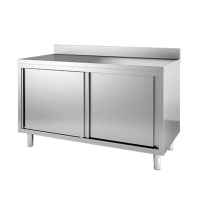 Placard professionnel inox 2 portes coulissante inox