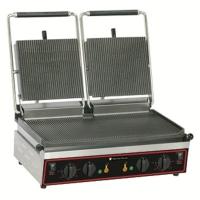 Grill panini double rainuré 4 kW