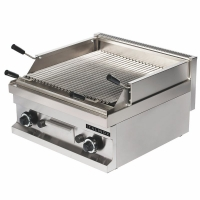 Grill Charcoal double au gaz grille inox Italinox