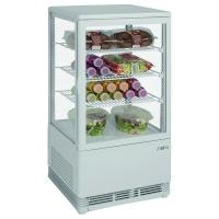 Mini vitrine blanche réfrigérée 70L modèle SC70