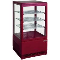 Mini vitrine rouge réfrigérée 70L modèle SC70
