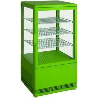 Mini vitrine verte réfrigérée 70L modèle SC70