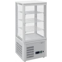 Mini-vitrine blanche réfrigérée 77L modèle SC78