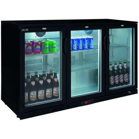 Arrière-bar réfrigéré 3 portes vitrées