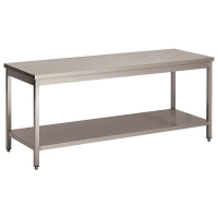 Table démontable bords droits, pieds carré, gamme 600
