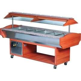 Buffet salad bar réfrigéré 4 GN1/1