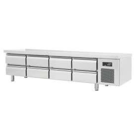 Soubassement réfrigéré 8 tiroirs, série 600